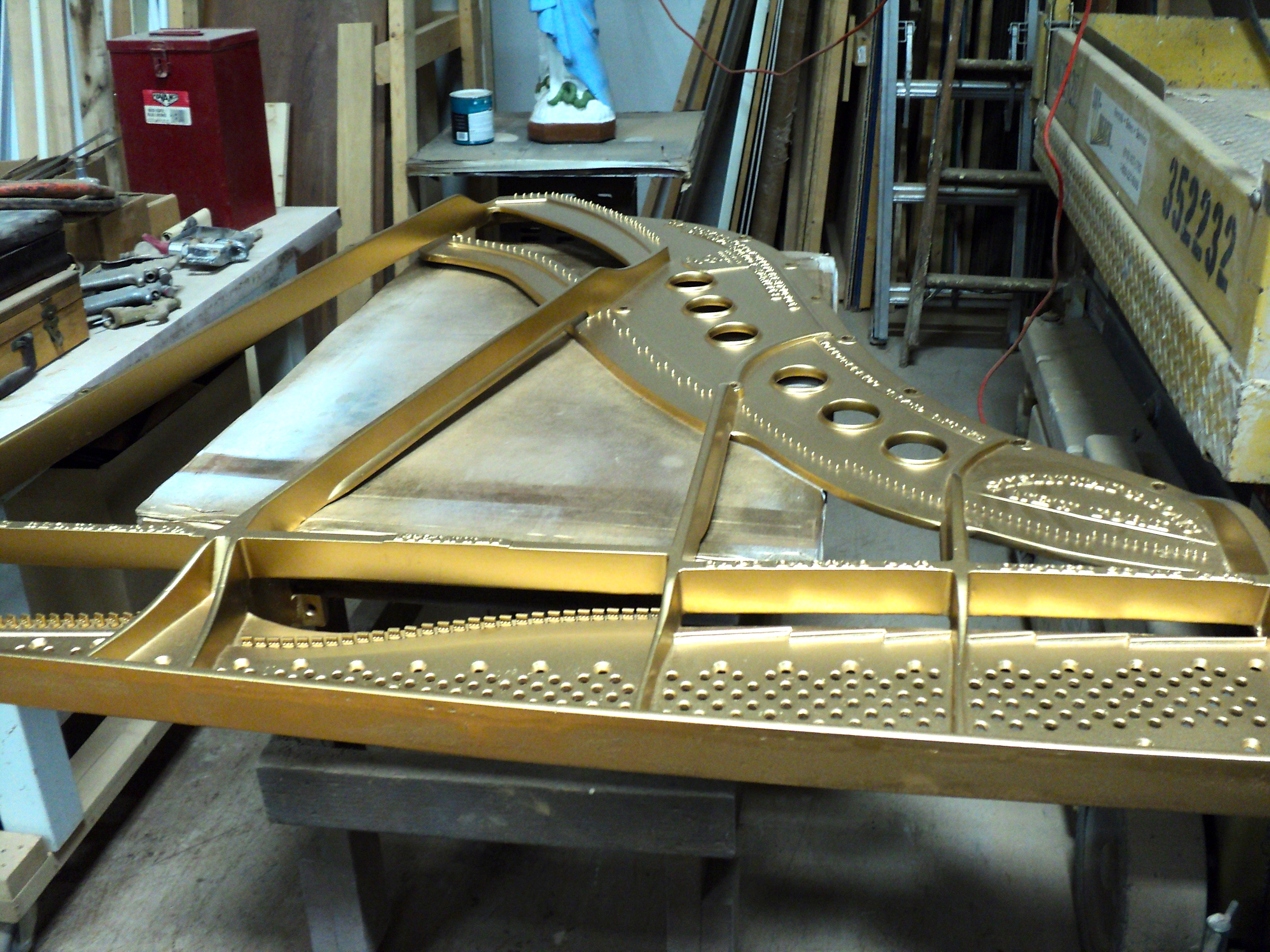 Steinway M Louis Rebuilt in Metro Detroit Michigan by Ace Piano the Piano Rebuilder and Steinway Restoration company of Michigan.