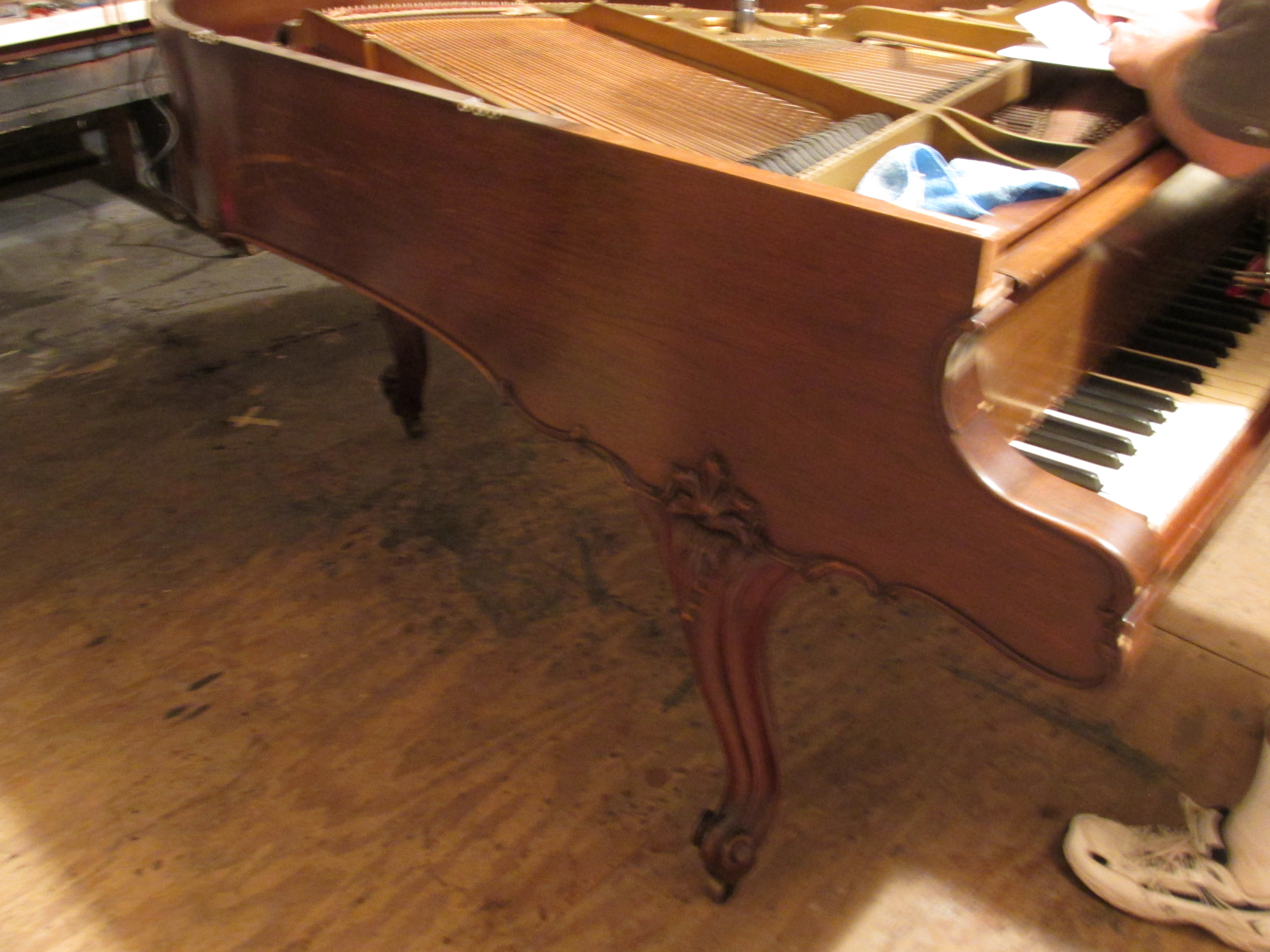 Steinway M Louis before Ace Piano Restoration